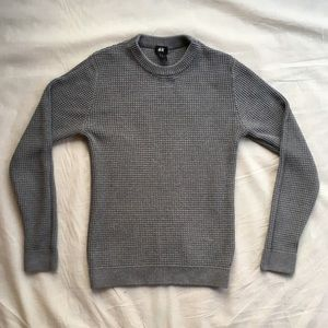 H&M Cotton Sweater XS Light Grey. Preowned